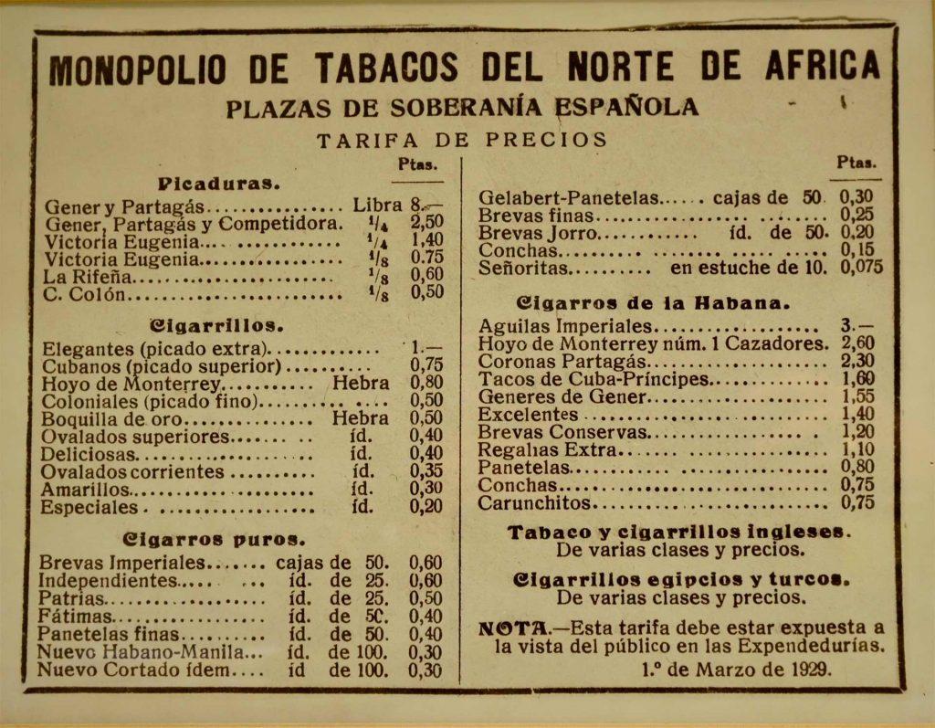 venerable capital sector del tabaco