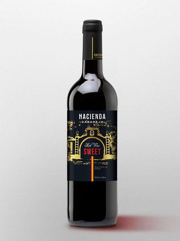 vino tinto dulce de la hacienda casarejo