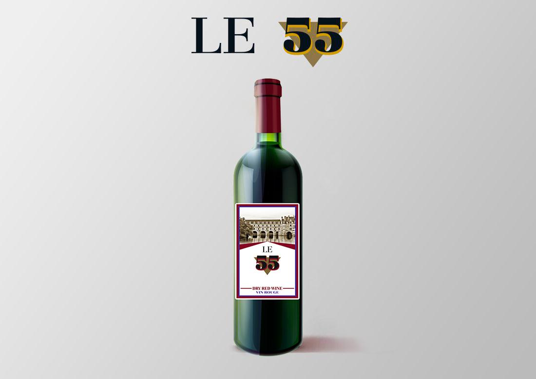 vino tinto seco le 55