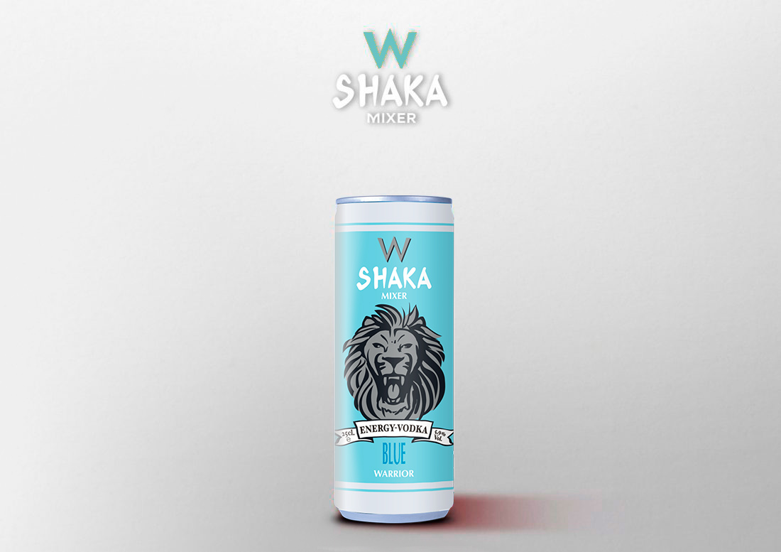 shaka mixer vodka energy blue