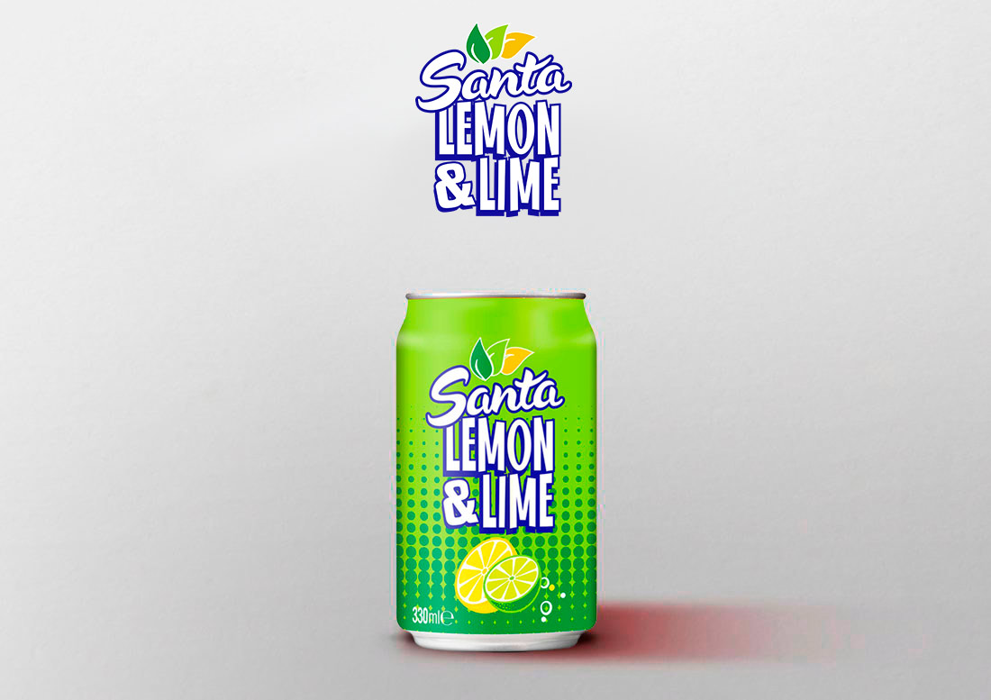 santa lemon soft drink