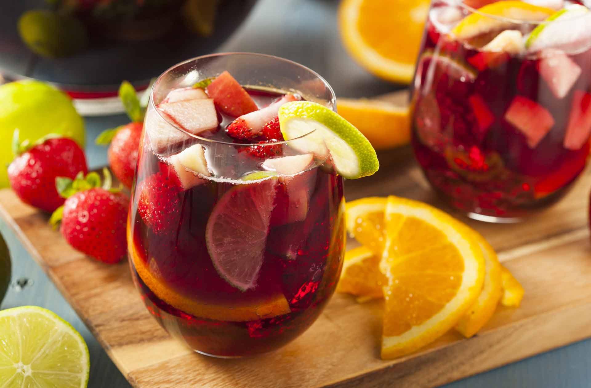 cócteles sin alcohol: sangría sin alcohol